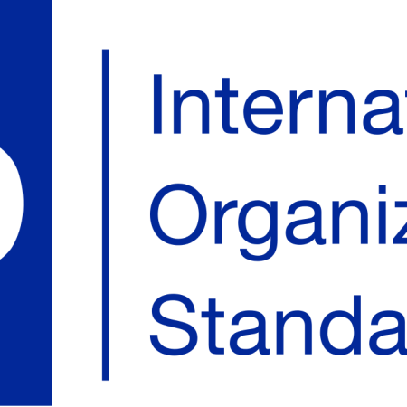 Graphic logo of the ISO Logo