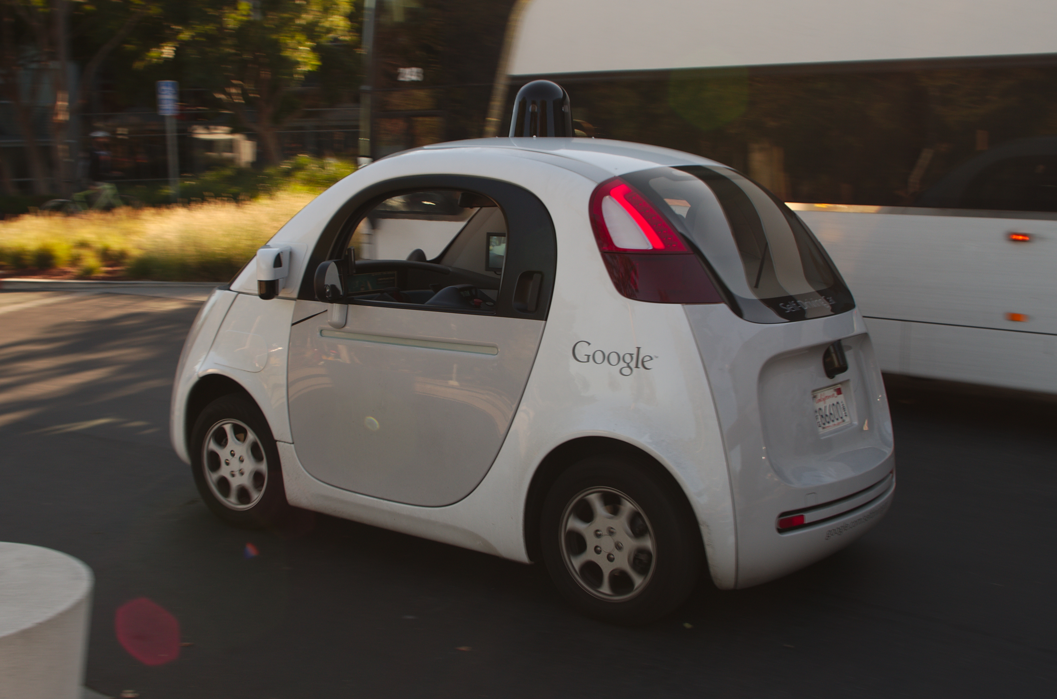 Picture of driverless car